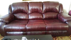 Sofa en cuir véritable