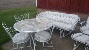 Vintage metal outdoor furniture set