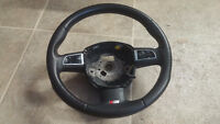AUDI A4 S4 A5 S5 A6 S6 A8 S8 3 SPOKE LEATHER STEERING WHEEL
