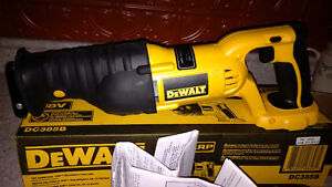 DeWalt Sawsall, New with box and manual.18v XRP