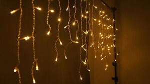 I AM SEARCHING FOR WHITE MINI L.E.D. ICICLE CHRISTMAS LIGHTS