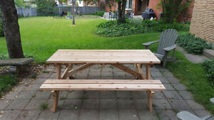 6' Hand Crafted 2x6 Cedar or Pressure Treated Picnic Table London Ontario image 4