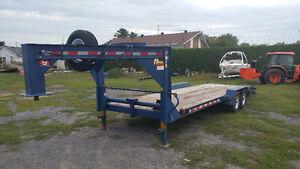 5 ton, 22' equipment float - 5th wheel / gooseneck - Can deliver