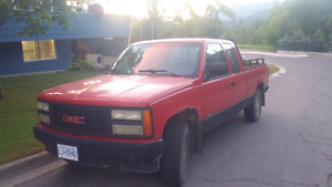 1993 gmc 1500 pick up extended cab.