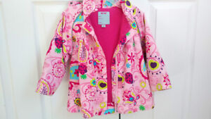 Spring Coat, Pink with Flowers, Toddler Girl, 18-24 months