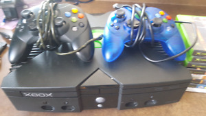 Original xbox 2 controllers and 32 games
