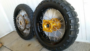 Spoked wheels, tires & brake rotors for Suzuki V-Strom Edmonton Edmonton Area image 4