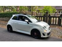 2009 FIAT 500 ABARTH 1.4 T-Jet TURBO 135 BHP HIGH SPEC PEARL WHITE, PAN SUNROOF