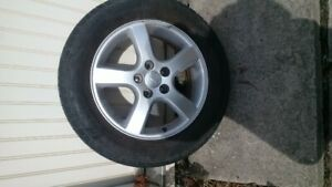 """GM mags and tires 17"""", 225/60R17 touring tires, $300"""