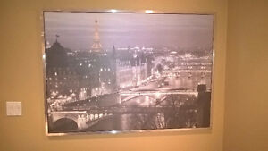 Picture frame - View of Paris France - from IKEA - Size 55'' wid