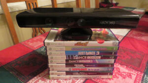 XBox Kinect + 9 Sports & Dance Games