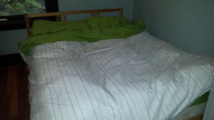 Double Mattress and IKEA bed frame for sale
