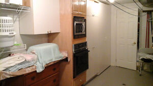 Microwave + Oven + Cabinet