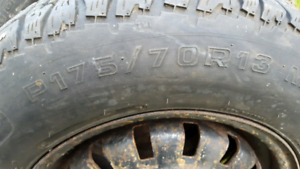 Snow tires 13 in is used but good threads