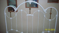 QUEEN SIZE CAST IRON HEADBOARD