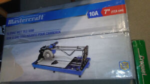 "Mastercraft 7"" wet tile saw"