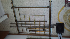 Antique Solid Brass Bed Frame fits a twin