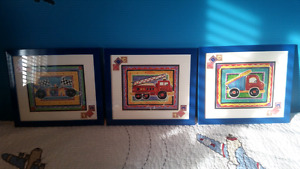 Pictures for boys room