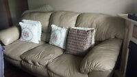 leather couch, and love seat, 3 seater + 2 seater
