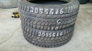 Pair of 2 Continental ContiWinterContact 205/55R16 WINTER tires