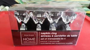 NEW in box - diamond napkin rings