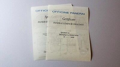 PANERAI PAM 203 Angelus / Super rare certificate / scroll set OPEN - no serial