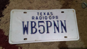 Texas Ham Radio license plate