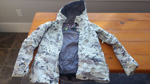 Burton women's snow jacket dry ride camo style extra small XS
