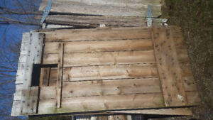 Various reclaimed doors and barn materials