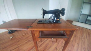 In -Table OLD Sewing Machine $ 35.00 !