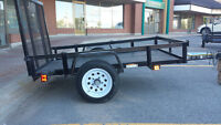 4X6 Utility Trailer / Open Wire Mesh Trailer with Rear Lift Gate