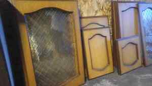 Solid wood cabinet doors with hardware London Ontario image 2