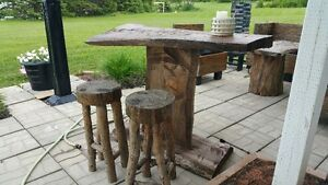 Outdoor Bar and Stools