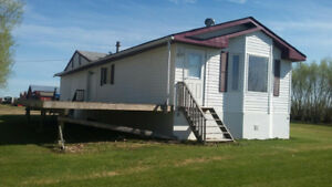 For Rent 2 Bedroom Mobile Home located North of Vimy, Alberta