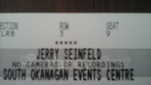 4 JERRY SEINFELD TICKETS NOV 30 GREAT SEATS