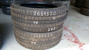 Pair of 2 Continental Contact 4x4 265/45R20 tires (80% tread lif