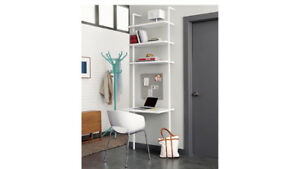 CB2 Stairway White Ladder Wall Desk/Bookcase
