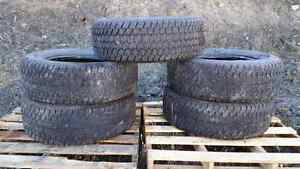 FOR SALE 5 USED GOODYEAR WRANGLER TIRES AT/S M+S  OBO