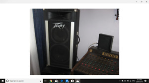 peavy P.A. speakers,and P.A. /wires