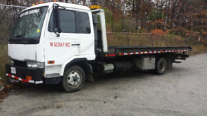 Nissan Diesel Flatbed Tow Truck - Good Condition