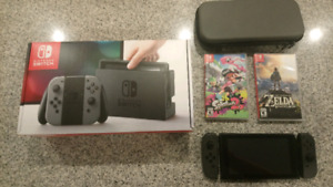 Nintendo Switch + 6 games barely used $525