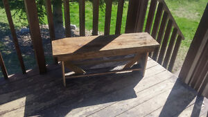 Homemade Barn Board Bench & Pallet Coffee Table For Sale!