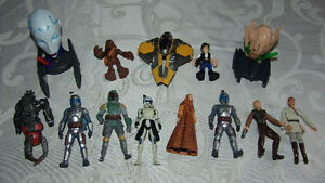 Star Wars Figures  Lot 13 Pieces Boba Fett. Chewbacca etc