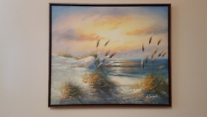 6) Shore painting with rushes