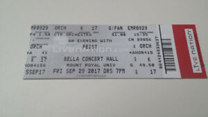 An Evening with Feist Friday Sept 29 -1 ticket