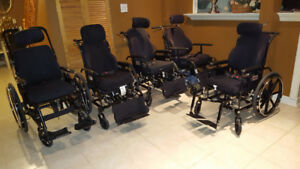 Tilt-In-Space Wheelchairs with Roho Cushion Seat