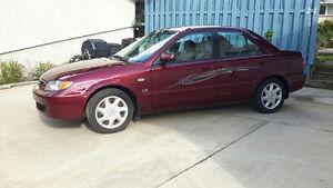 2003 Mazda Protege Red Sedan