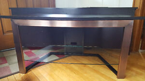 TV table with glass shelf