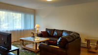 FURNISHED condo apartment - 3 bedrooms - excellent location
