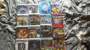 Playstation 3 with 16+ games 2 controllers power cord hdmi cord